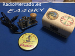 LLAVE TELEGRAFICA VERTICAL MAGNÉTICA + CAJA MADERA DECORADA